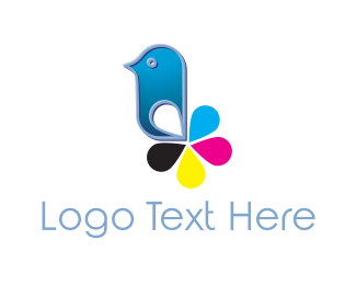 Inkjet - Cartridge Bird logo design