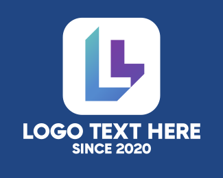 Business - Mobile Application Letter L logo design