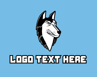 Husky - Angry Husky Mascot logo design
