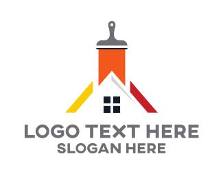 Carpentry - House Painter logo design