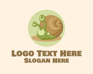 Cartoon - Cute Cartoon Snail logo design