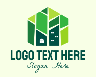 Geometric House Construction Logo