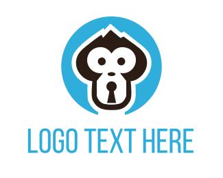 Lock - Monkey Lock logo design