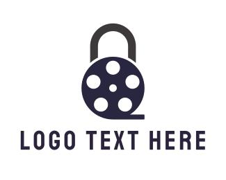 Reel - Padlock Film logo design