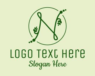 Leaf - Natural Letter N logo design