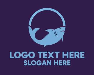 Shark - Pink Shark logo design