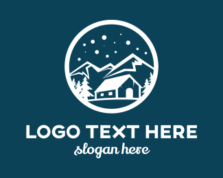 New Zealand - Snow Mountain  logo design