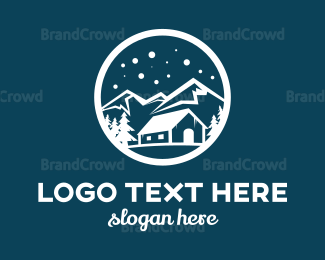 Outdoor - Snow Mountain  logo design