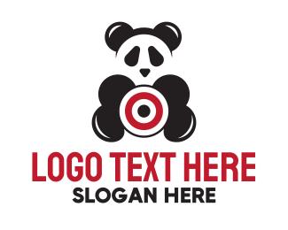 Funny - Target Panda Bear logo design