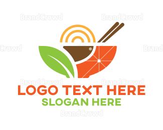 Recipe - Asian Healthy Bowl  logo design