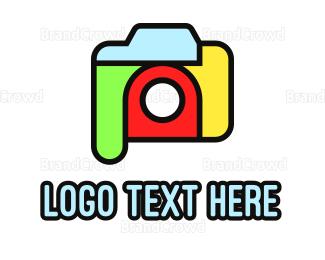 Advertising - Colorful Camera Outline logo design