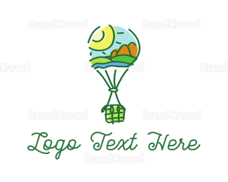 Travel Agent - Landscape Balloon logo design