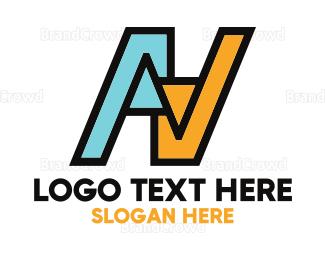 Branding - AV Letters logo design