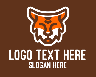Tiger - Cute Wild Tiger logo design