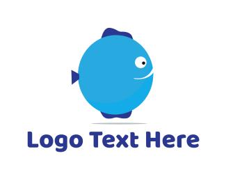 Birthday - Fish Balloon logo design