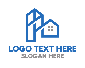 Townhouses - Blue Tower House logo design