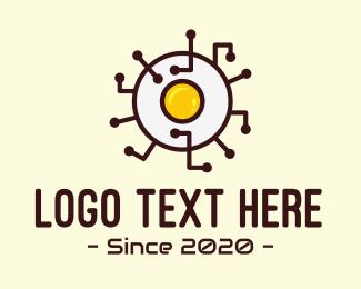 Food Blog - Egg Food Network logo design