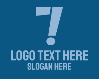 Question Mark - Number 7 Exclamation logo design