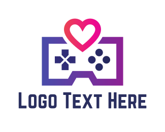 Console - Game Love logo design