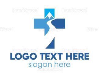 Everest - Mountain River Chapel logo design
