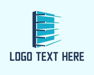 Building - Store Shelves logo design