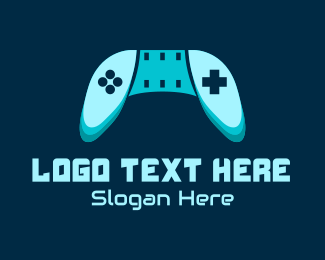 Gaming Equipment - Blue Gaming Console logo design