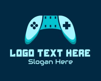 Console - Blue Gaming Console logo design