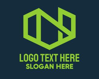 Firm - Green Abstract Construction Firm logo design