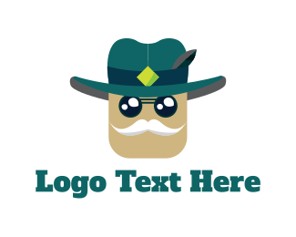 Mustache - Old Sheriff logo design