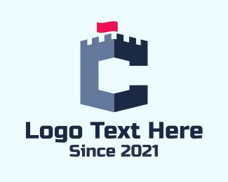 Letter C - Letter C Turret logo design