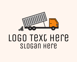 Big - Dump Truck Transport logo design
