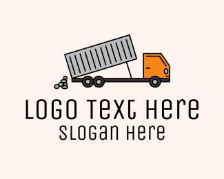 Transport - Dump Truck Transport logo design