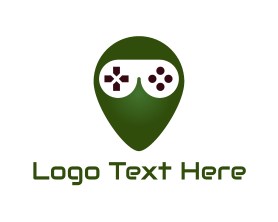 Geek - Gaming Alien logo design