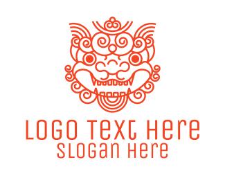 Legend - Red Chinese Shisa logo design