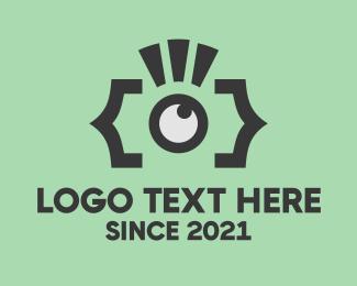 Spy - Camera Flash logo design