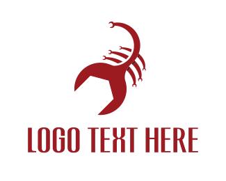 Scorpio - Wrench Scorpion logo design
