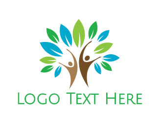 Therapist - Nutrition Tree People  logo design