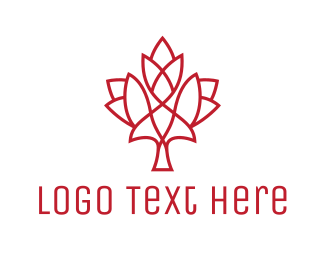 Alberta - Modern Maple Leaf logo design
