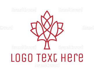 Air Travel - Modern Maple Leaf logo design