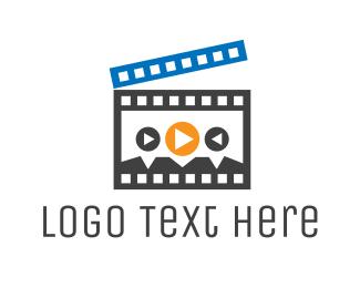 Clapperboard - Movie Player logo design