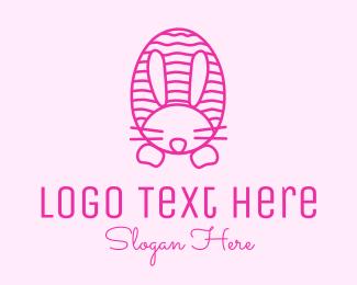 Easter Bunny - Pink  Easter Bunny logo design