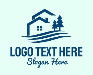 Outdoor - Blue Outdoor Property logo design