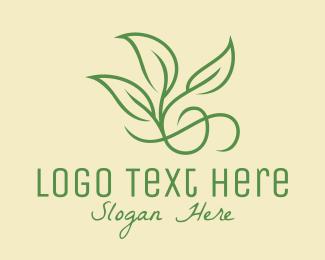 Environmental Friendly - Green Leaf Ornament logo design