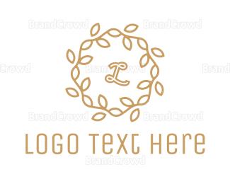 Lettermark - Golden Wreath Lettermark logo design