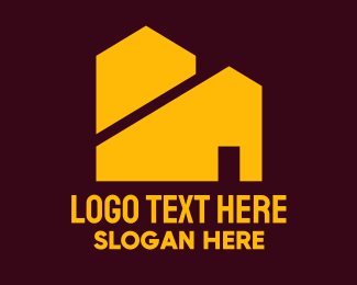 Property Developer - Yellow Real Estate Houses logo design