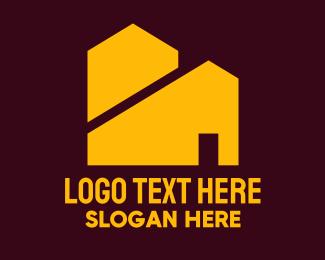 Estate - Yellow Real Estate Houses logo design