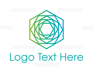 Flower Shop - Geometric Flower logo design
