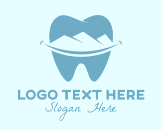 Molar - Dental Mountain  logo design