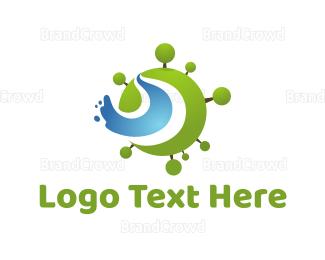 Creek - Green Planet logo design
