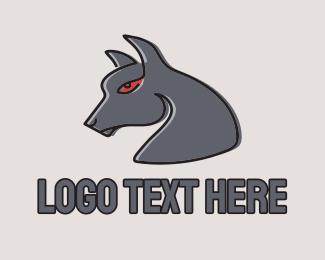 Dark - Dark Scary Wolf logo design